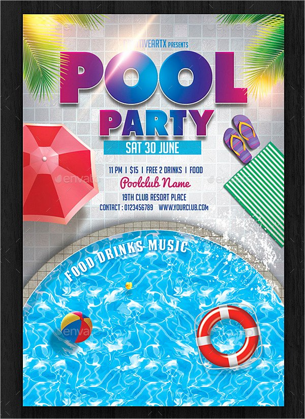 Pool Party Invitation Template Awesome 28 Pool Party Invitations Free Psd Vector Ai Eps