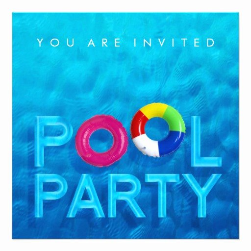 "Pool Party Invitation Template Awesome Summer Swimming Pool Party Invitation 5 25"" Square"