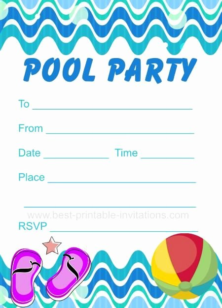 Pool Party Invitation Template Beautiful Pool Party Invitation Free Printable Party Invites From