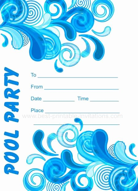 Pool Party Invitation Template Best Of Adult Pool Party Invitations