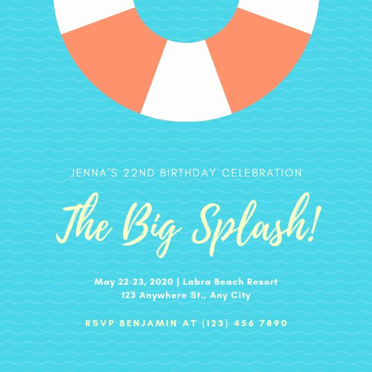 Pool Party Invitation Template Best Of Customize 2 892 Pool Party Invitation Templates Online