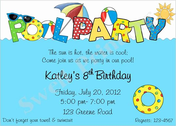 Pool Party Invitation Template Best Of Pool Party Invitation Template 38 Free Psd format