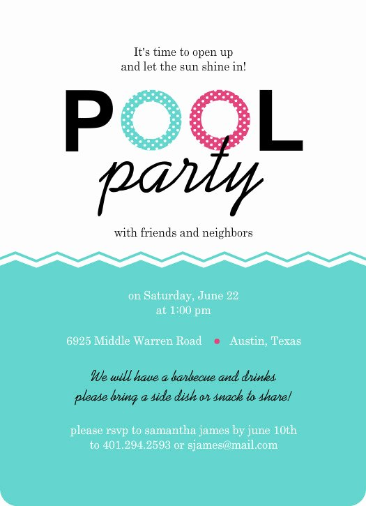 Pool Party Invitation Template Best Of Pool Party Invites Floaties Pink and Turquoise Pool