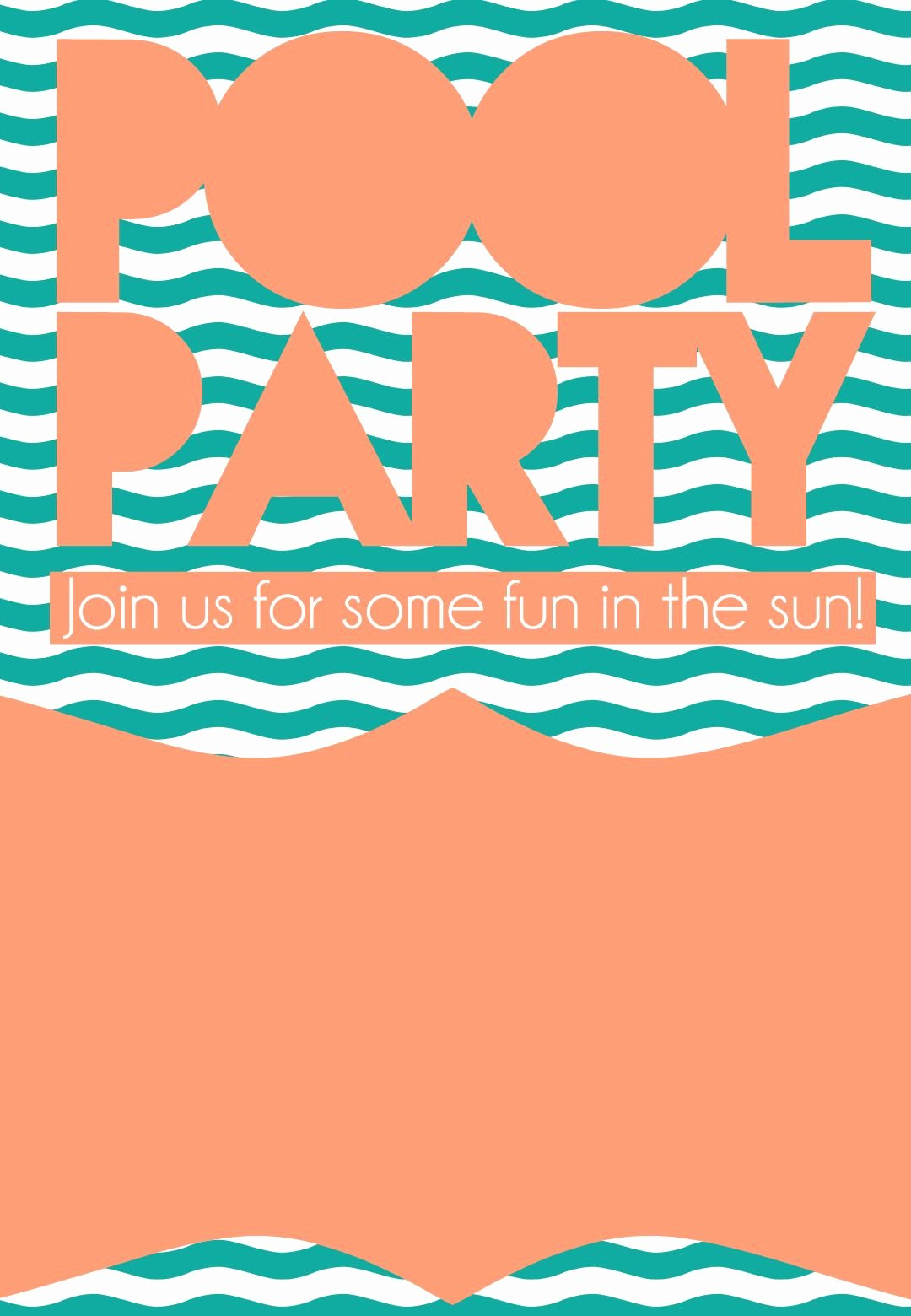 Pool Party Invitation Template Best Of Summer Pool Party Invitation Free Printable Diy