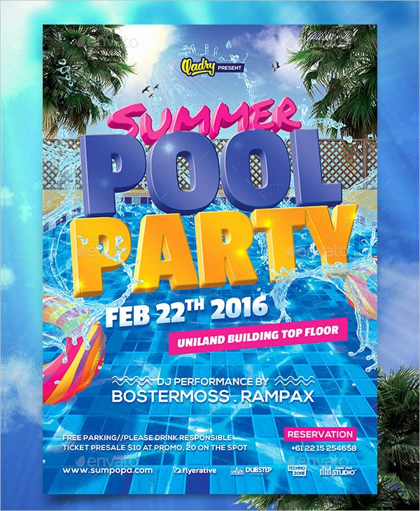Pool Party Invitation Template Fresh 28 Pool Party Invitations Free Psd Vector Ai Eps