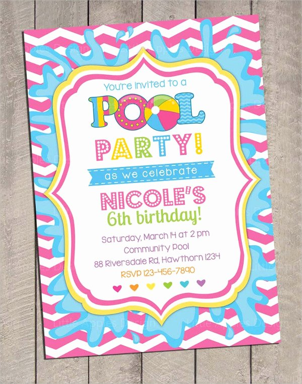 Pool Party Invitation Template Inspirational 28 Pool Party Invitations Free Psd Vector Ai Eps