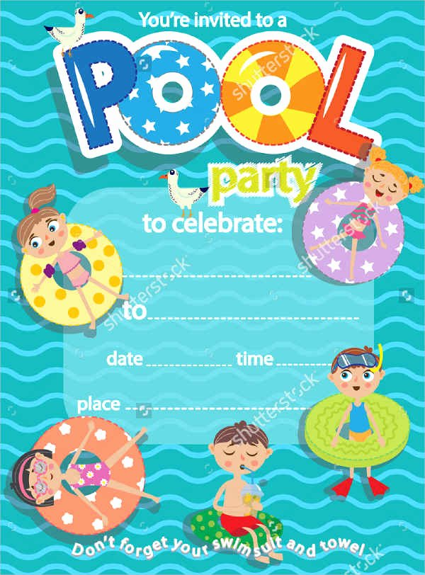 Pool Party Invitation Template New 51 Invitation Flyer Design Templates Psd Ai