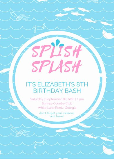 Pool Party Invitations Template Awesome Customize 2 879 Pool Party Invitation Templates Online