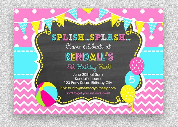 Pool Party Invitations Template Beautiful 28 Pool Party Invitations Free Psd Vector Ai Eps
