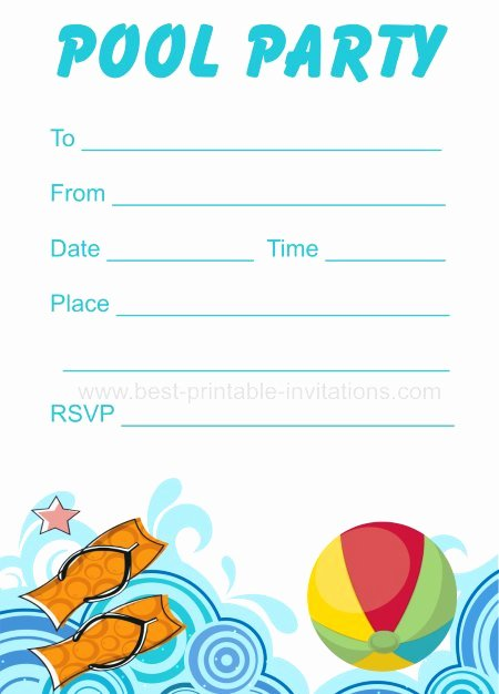 Pool Party Invitations Template Beautiful Printable Pool Party Invitation