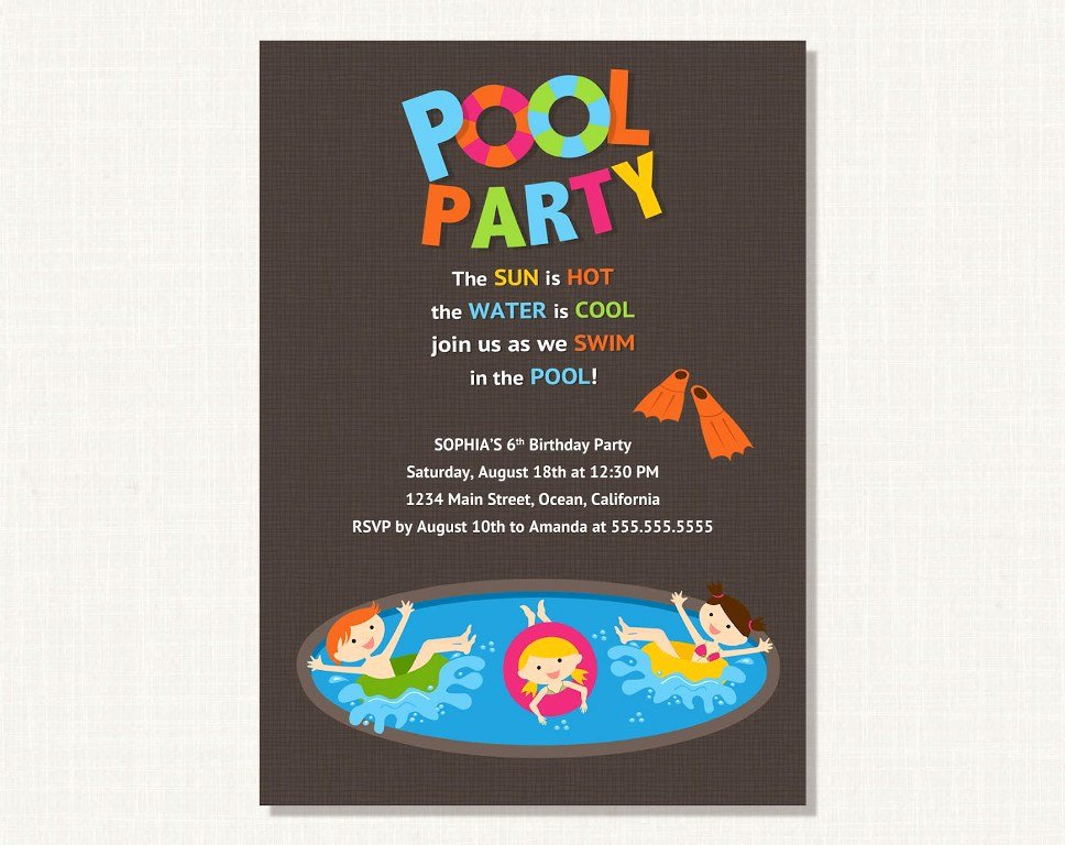 Pool Party Invitations Template Best Of Masterly Tips to Write attractive Pool Party Invitations