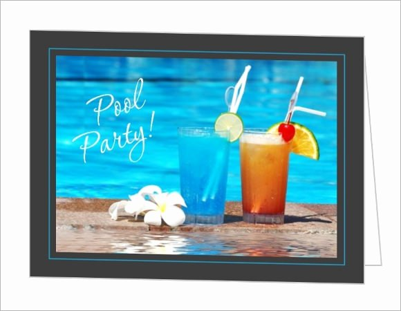 Pool Party Invitations Template Lovely 8 Sample Best Pool Party Invitations to Download