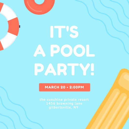 Pool Party Invitations Template Lovely Customize 3 999 Pool Party Invitation Templates Online