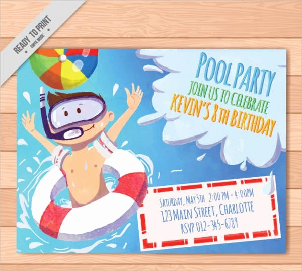 Pool Party Invitations Template Lovely Free Party Invitation