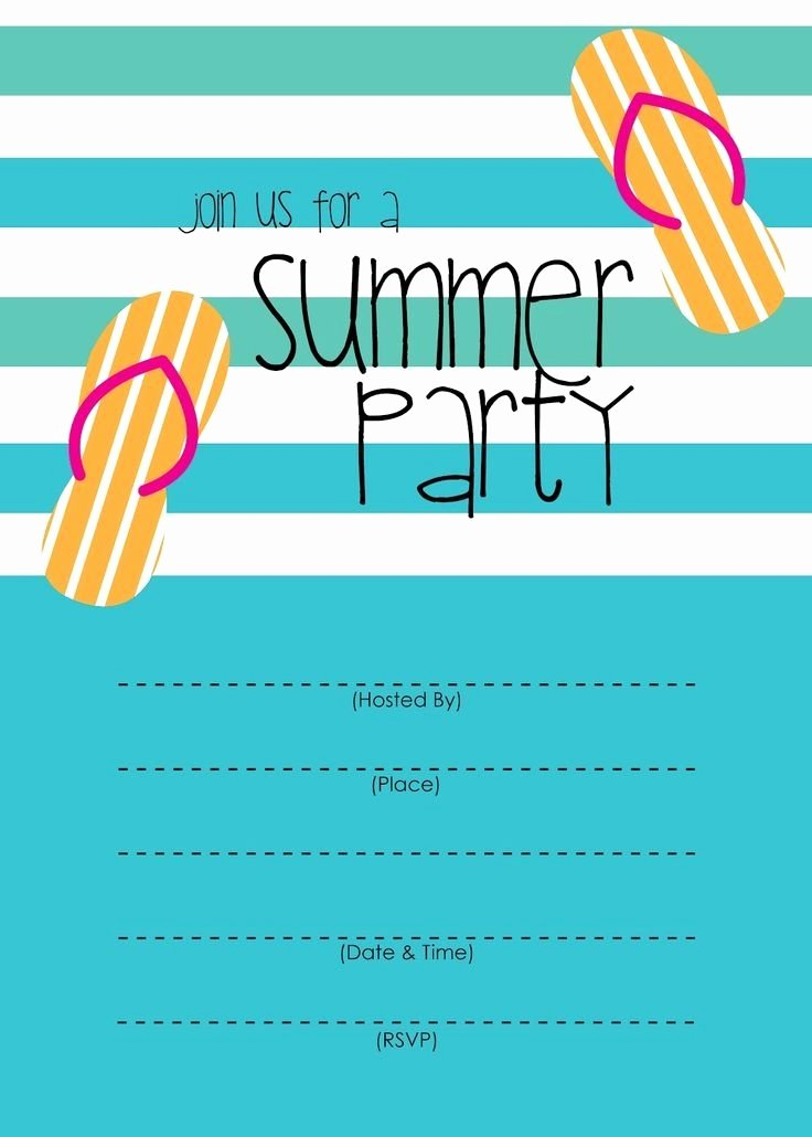 Pool Party Invitations Template New Summer Party Invitation Template