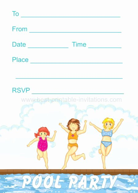 Pool Party Invite Template Elegant 45 Pool Party Invitations