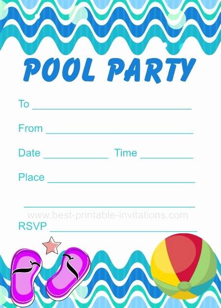 Pool Party Invite Template Elegant Printable Pool Party Invitation