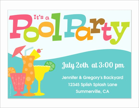 Pool Party Invite Template Fresh 8 Sample Best Pool Party Invitations to Download