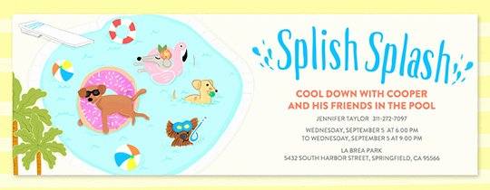 Pool Party Invite Template Fresh Free Pool Party Invitations