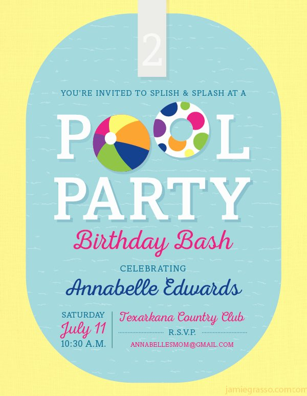 Pool Party Invite Template Lovely Pool Party Invitation Template 38 Free Psd format