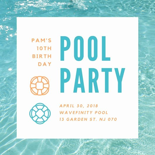Pool Party Invite Template New Customize 3 999 Pool Party Invitation Templates Online