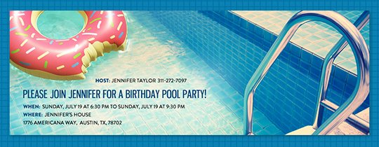Pool Party Invite Template New Free Pool Party Invitations
