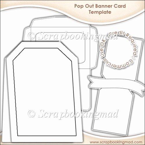 Pop Up Banner Template Inspirational Pop Out Banner Card & Envelope Template Cu Ok £3 50