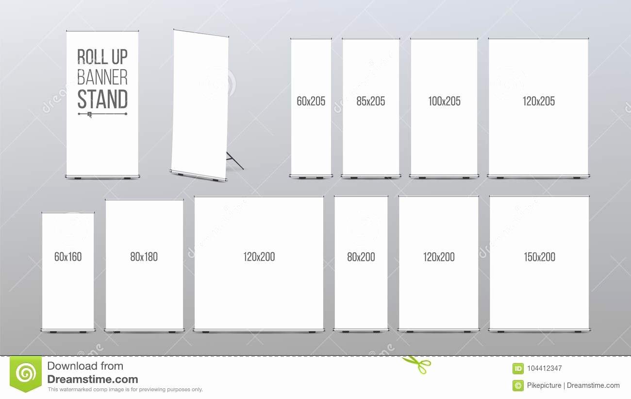 roll up banner stand vector pop flipchart promotional presentation empty template realistic illustration training flag design image