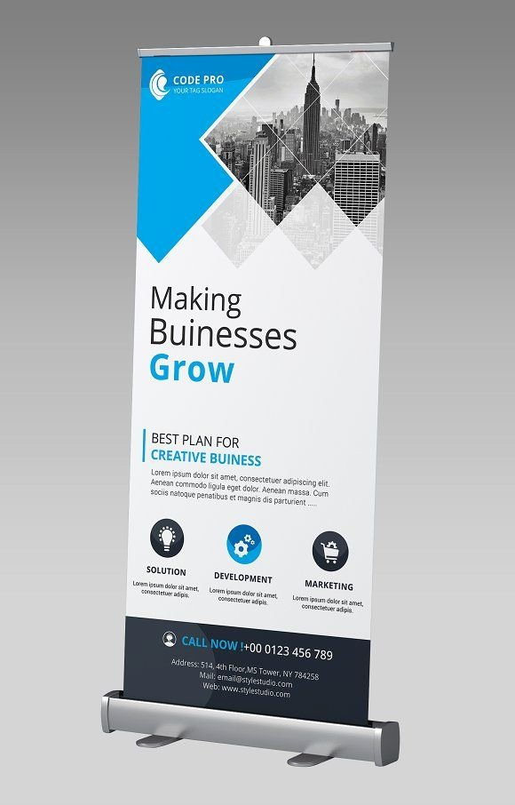Pop Up Banner Template New Business Rollup Banner by Creative Idea On Graphicsauthor