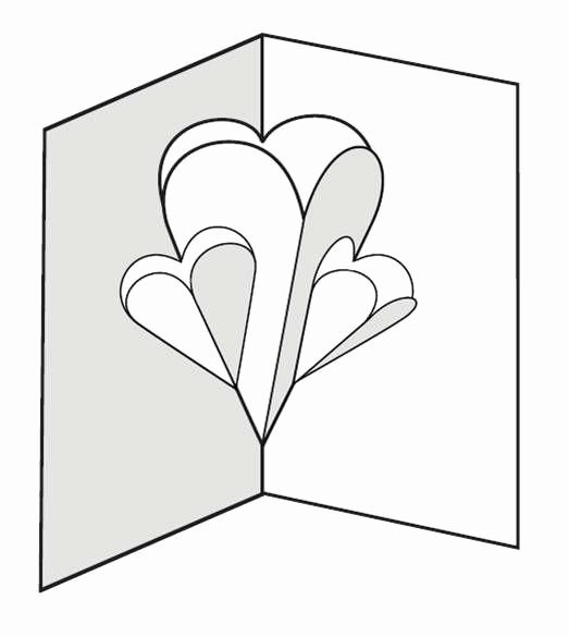 Pop Up Book Template Fresh Make A Pop Up Card Of Hearts 12 Steps