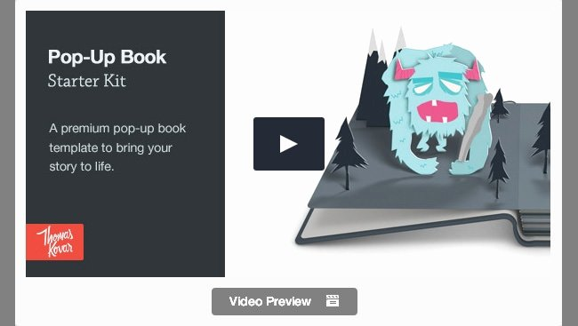 Pop Up Book Template Inspirational 25 Best Promo Video Templates