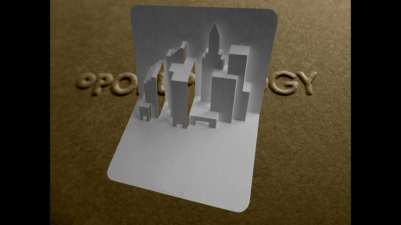 Pop Up Book Template Lovely Pop Up New York Skyline Card Tutorial origamic