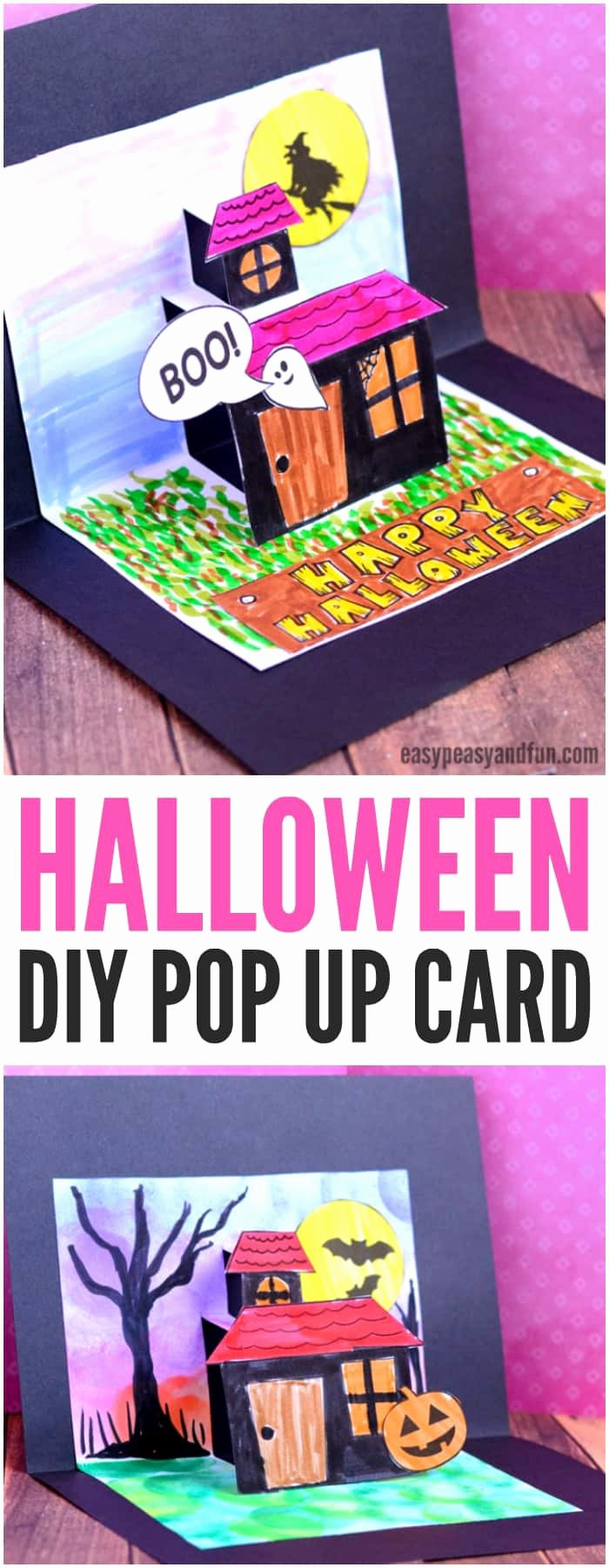 Pop Up Card Template Awesome Halloween Pop Up Card Template Easy Peasy and Fun