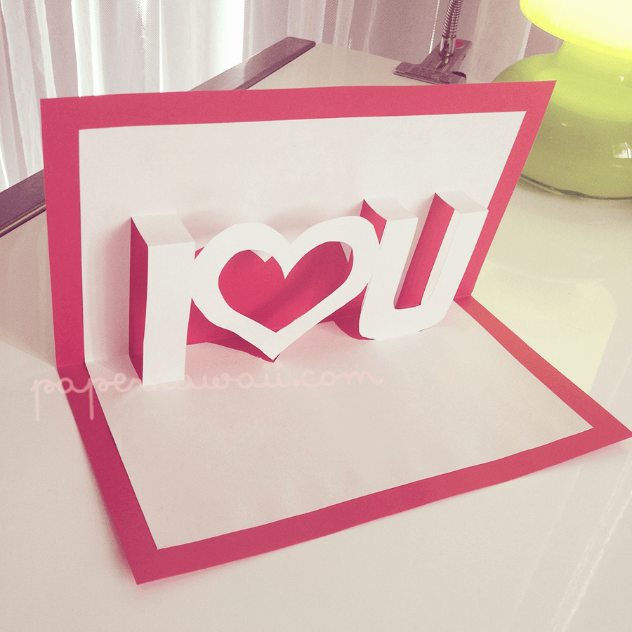 Pop Up Card Template Best Of Pop Up Valentines Card Template I ♥ U Paper Kawaii
