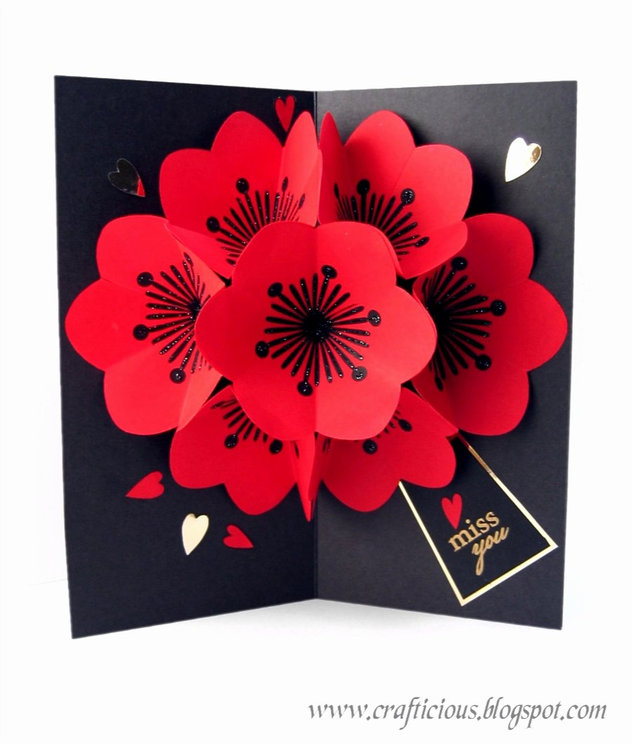 Pop Up Card Template Elegant Crafticious Pop Up Card Valentine Flowers