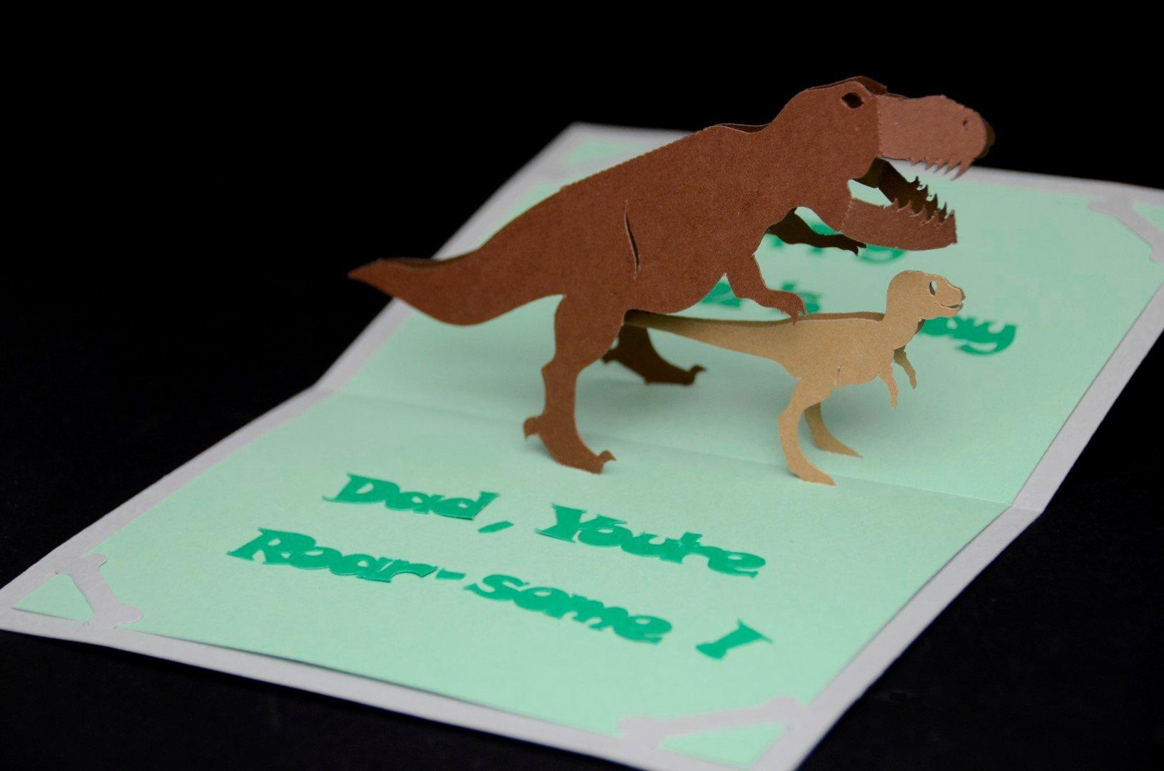 Pop Up Card Template Elegant Dinosaur Pop Up Card Template