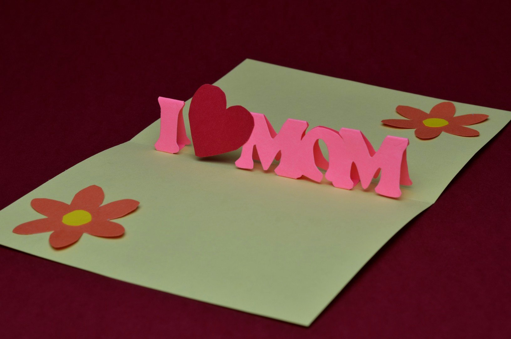 Pop Up Card Template Elegant Free Mother's Day Pop Up Card Template and Tutorial