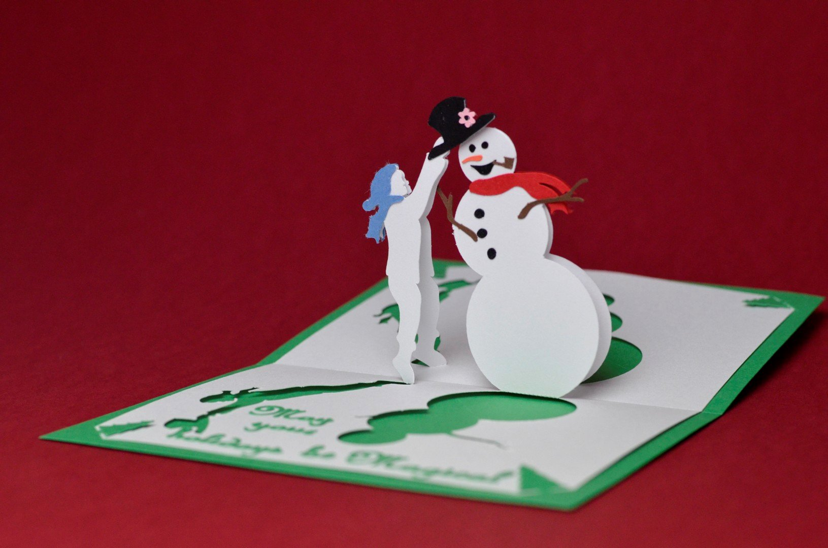 Popup Christmas Card Template Awesome Magical Snowman Pop Up Card Template