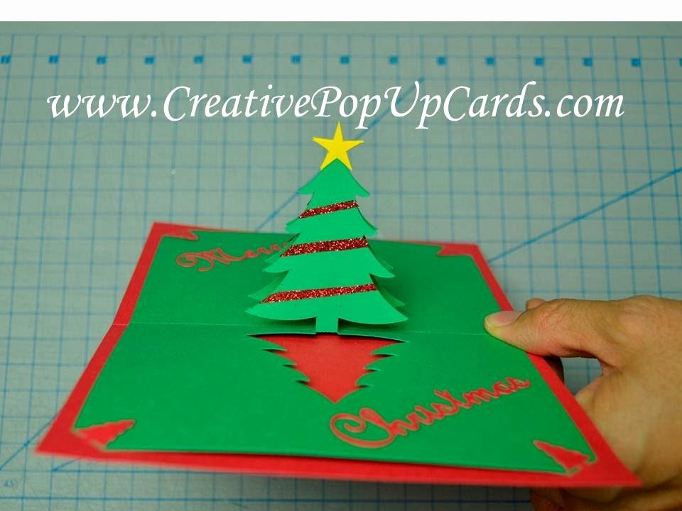 Popup Christmas Card Template Beautiful Easy Christmas Tree Pop Up Card Tutorial