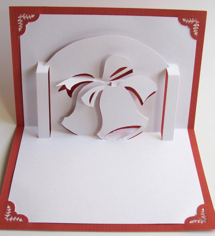 Popup Christmas Card Template Best Of Christmas Bells Pop Up Greeting Card Home Décor 3d Handmade