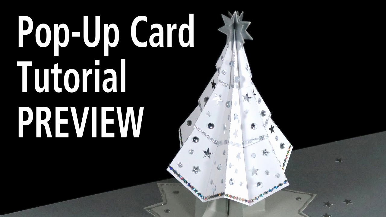 Popup Christmas Card Template Best Of Christmas Tree Pop Up Card Tutorial Preview