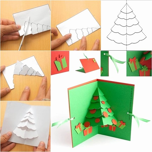 Popup Christmas Card Template Best Of Wonderful Diy Christmas Tree Pop Up Greeting Card