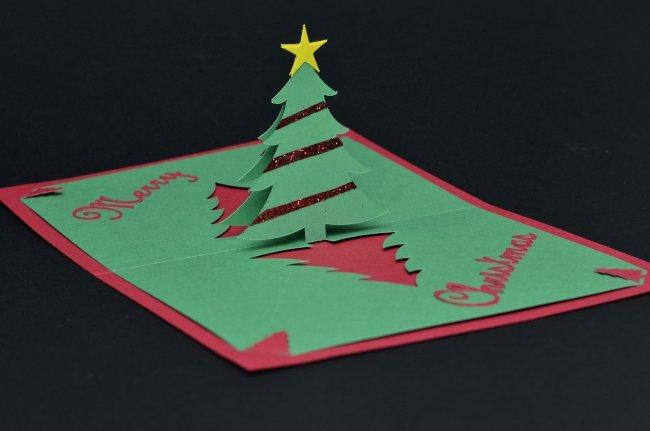 Popup Christmas Card Template Elegant Creativepopupcards