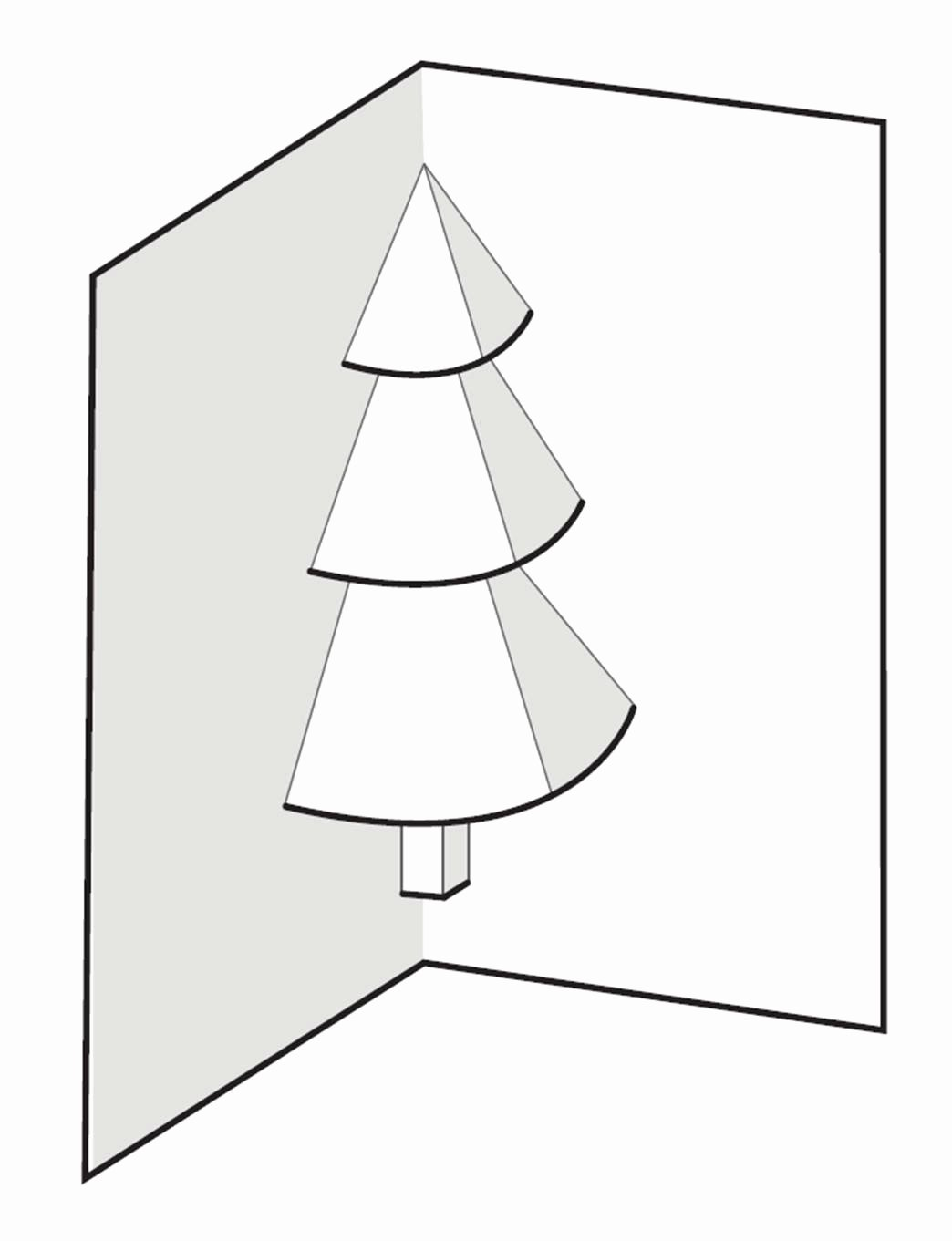 Popup Christmas Card Template Fresh How to Make A Pop Up Christmas Tree Card 6 Steps