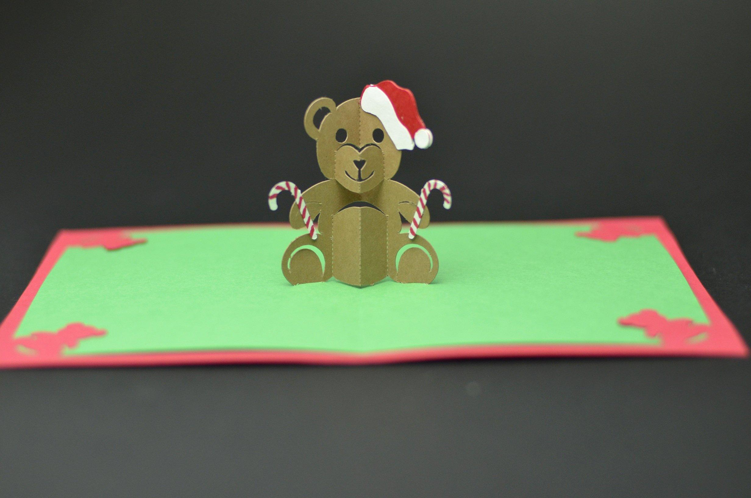 Popup Christmas Card Template Fresh Teddy Bear Pop Up Card Tutorial and Template Creative