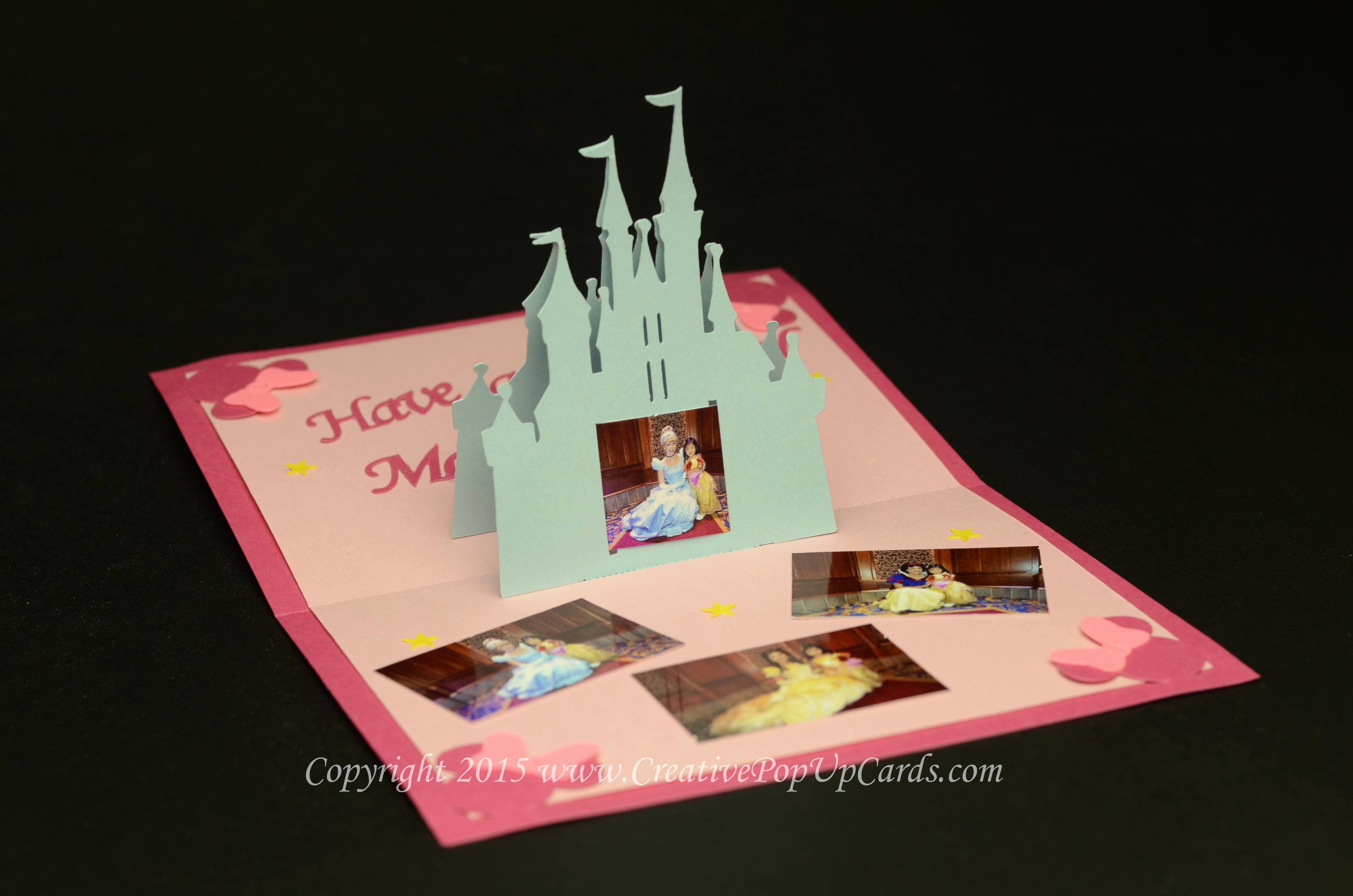 Popup Christmas Card Template Inspirational Castle Pop Up Card Template