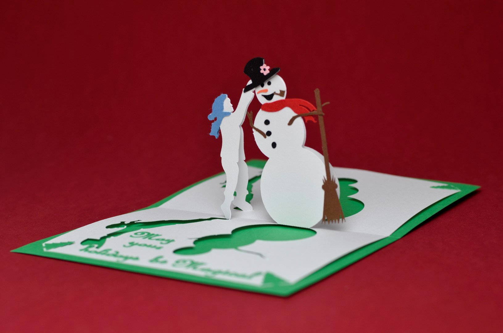 Popup Christmas Card Template Lovely Christmas Pop Up Card Magical Snowman Tutorial Creative