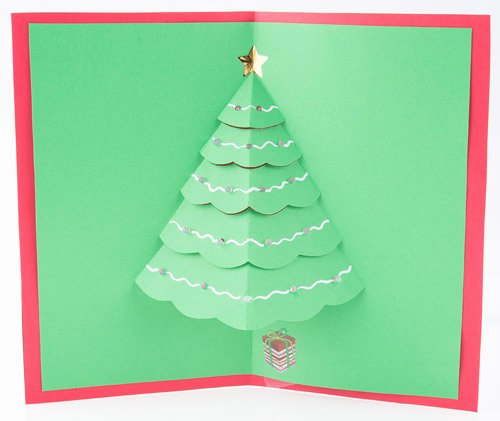 Popup Christmas Card Template Lovely Let It Glow Holiday Cards Learn Sparkfun