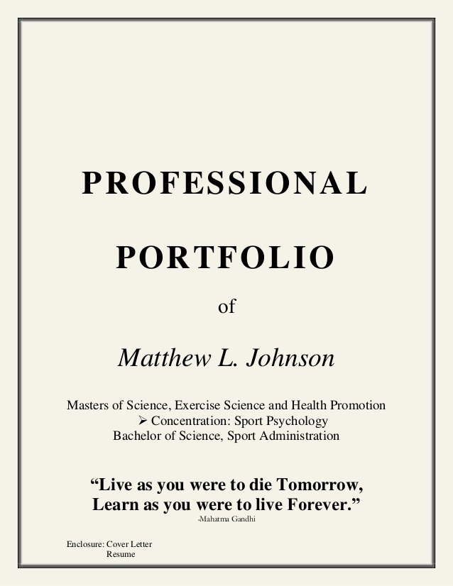 Portfolio Cover Page Template Awesome Coaching Portfolio