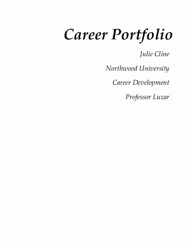 Portfolio Cover Page Template Awesome Cover Page